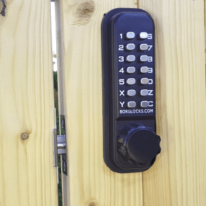 The BL2601 combination digital lock from Borg is designed for wooden and timber gates
