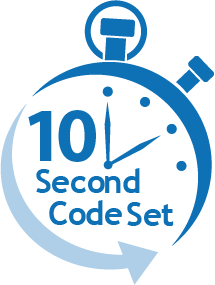 10 second code set diagram