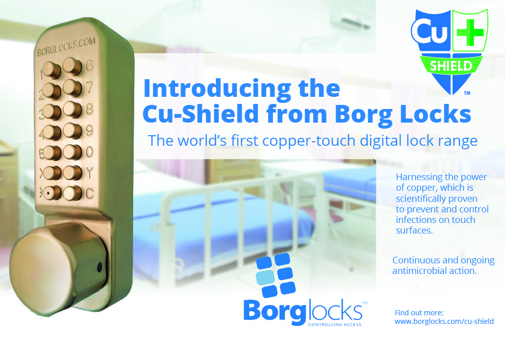 Introducing the Cu-Shield, the world's first copper-touch digital lock range from Borg Locks