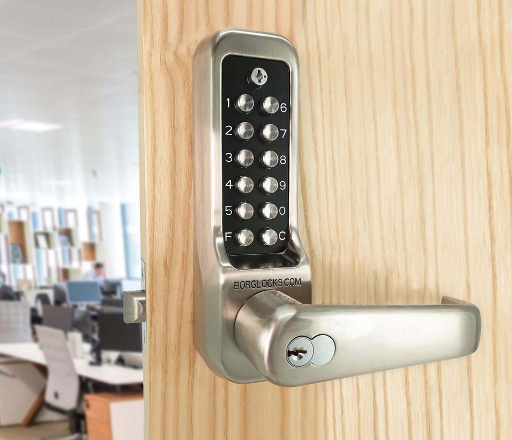 BL7000 heavy duty lock from Borg Locks, shown here in stainless steel